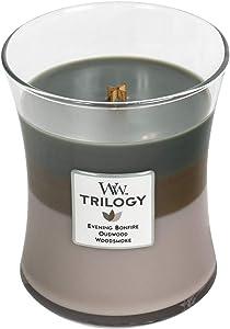 WoodWick Cozy Cabin Trilogy Pluswick Medium Hourglass Candle, 10 oz.