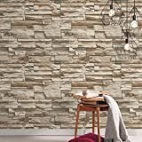 Stacked Stone Repositionable and Removable Peel and Stick Wallpaper
