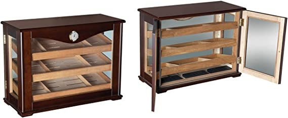 Prestige Import Group Marciano Counter Top Display Humidor w/Reverisble Trays - Color: Dark Mahogany