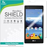 RinoGear for LG K8V (K8 V) Screen Protector [Active Protection] Flexible HD Invisible Clear Shield Anti-Bubble