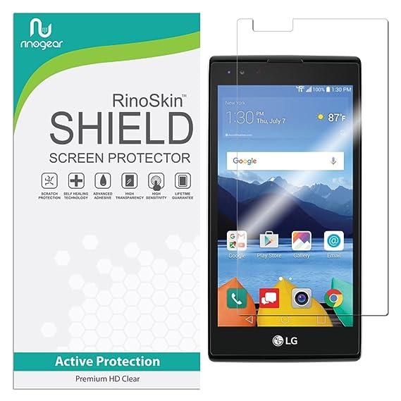 new arrival 615c5 0b13c LG K8V / K8 V (Verizon Only) Screen Protector RinoGear Case Friendly Screen  Protector for LG K8V / K8 V Accessory Full Coverage Clear Film