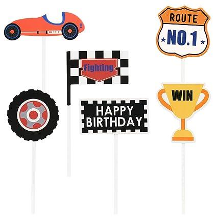 TOYANDONA - 18 piezas de decoración para tartas de coche de ...