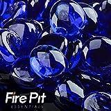 Fireglass Fire Beads Fireplace Glass and Fire Pit Glass, 10-Pound, Deep Sea Blue