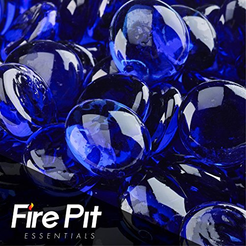 Fireglass Fire Beads Fireplace Glass and Fire Pit Glass, 10-pound, Deep Sea Blue by Fire Pit Essentials
