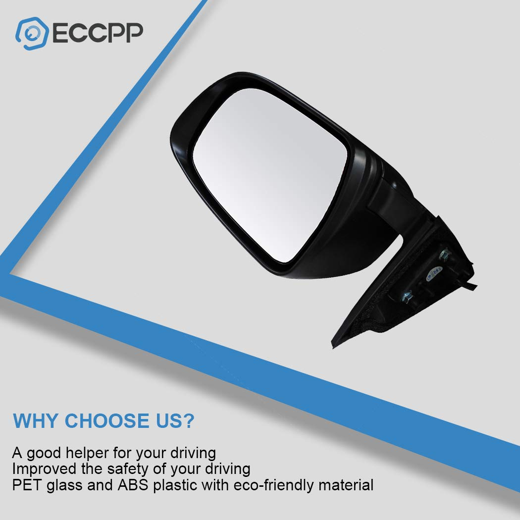 ECCPP Driver Side Mirrors Left Side Rear View Mirrors Power Adjustment Manual Folding Door Mirror Replacement fit for 2017 2018 2019 Nissan Rogue 2018 Nissan X-Trail