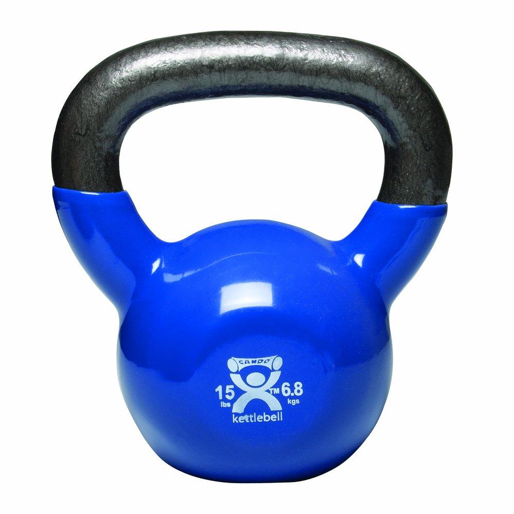 Cando 10-3194 Blau Kettle Bell, 15 lbs Weight