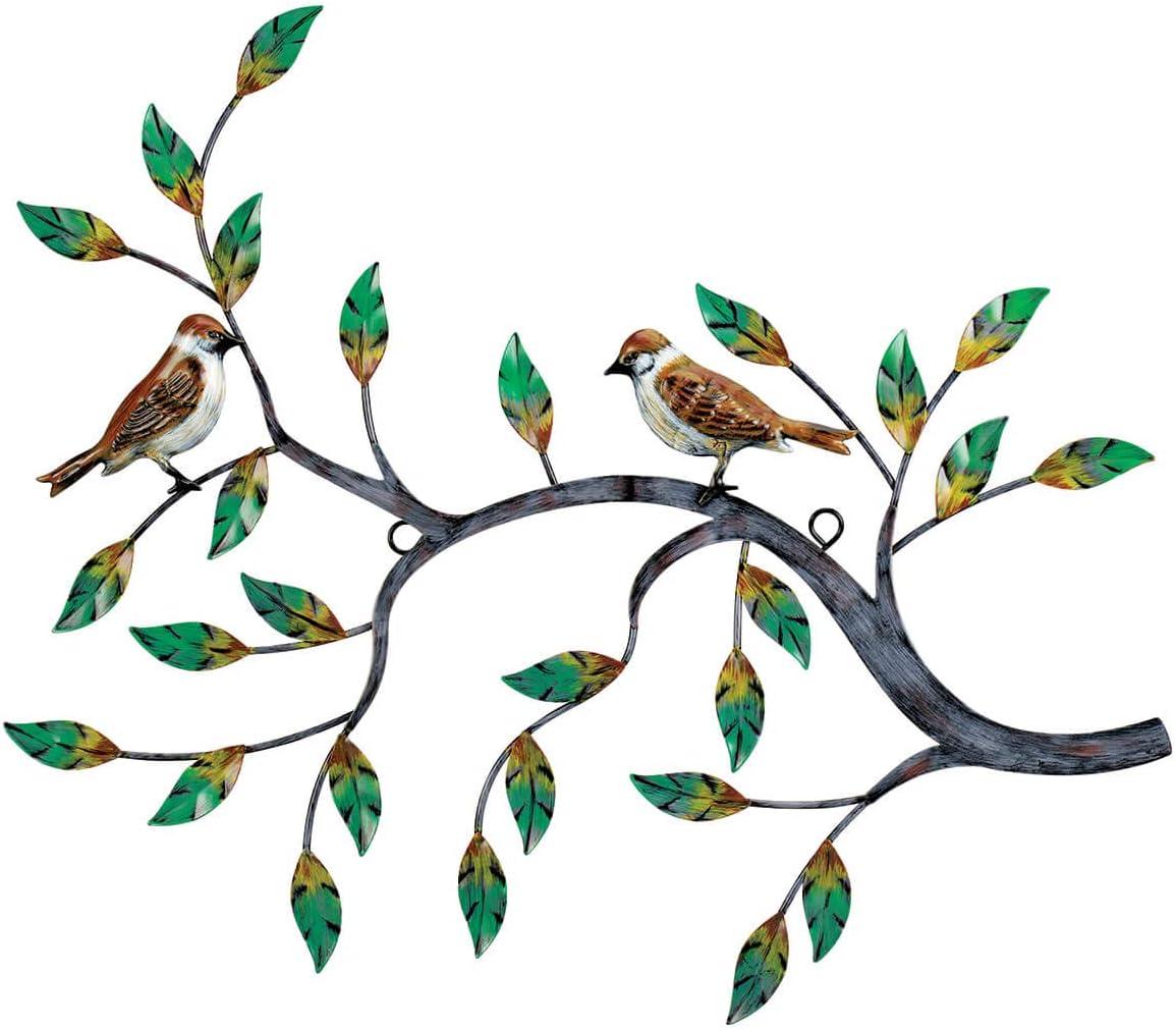 Fox Valley Traders Natures Bird Tree Branch Metal Wall Decor