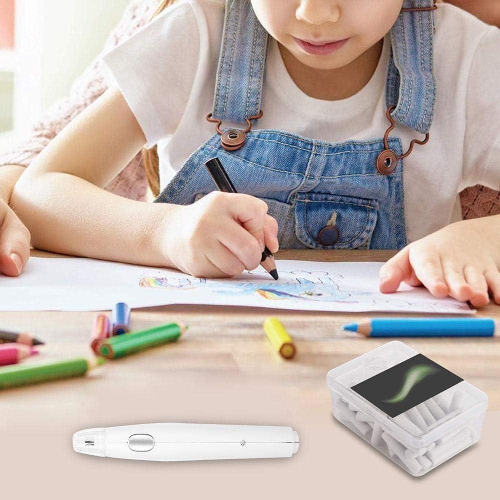 Blanco Vobor Handy Electric Borrador de Carga USB Borrador Recargable con 16 repuestos de Repuesto para Escritura de Pintura