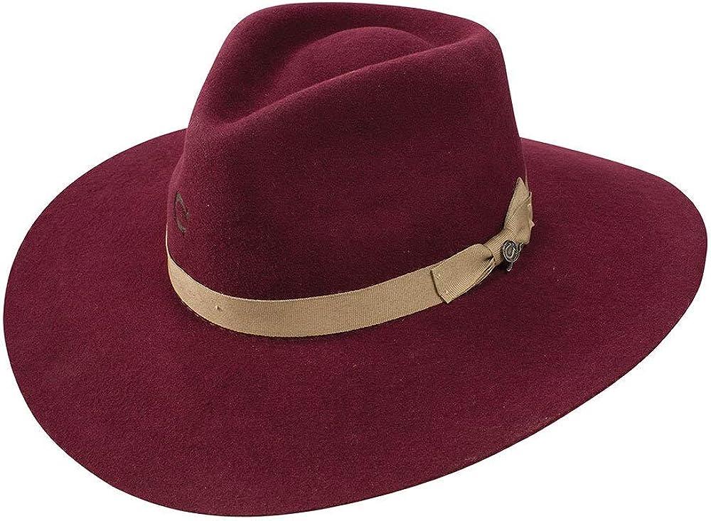 Charlie 1 Horse Hats Womens Highway Burgundy 3 3//4 Brim