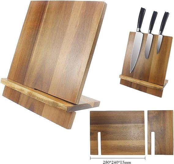 Compra Soporte Magnético para Cuchillos Bloque Magnético De Acacia para Utensilios De Cocina Base Magnética De Madera para Cuchillo De Damasco en Amazon.es