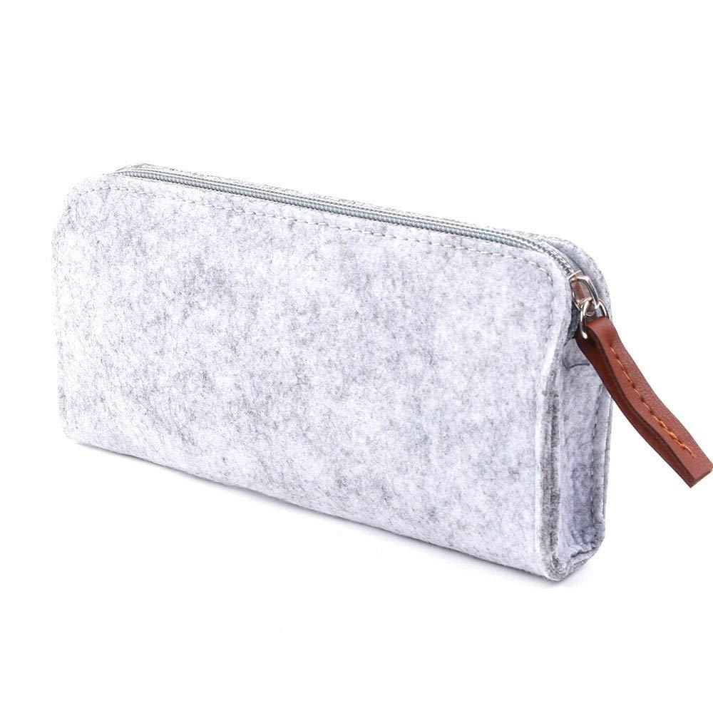 QZWXASD bolsa de lápiz de fieltro tela caja de lápices caja ...