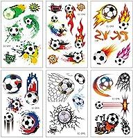 Konsait fútbol Tatuajes temporales niños Falso Tatuaje Temporal ...