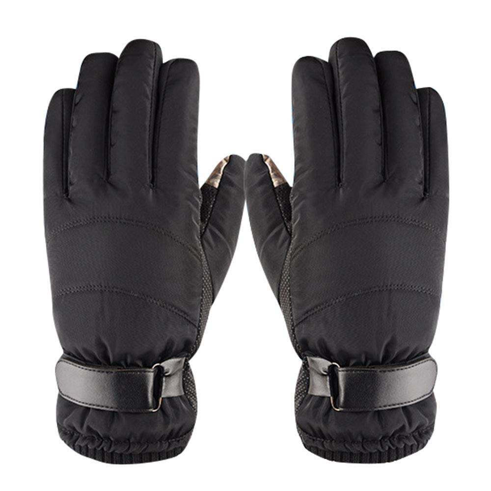 Rosepoem Warm-Radsporthandschuhe - Winter-Vollfingerhandschuhe aus Baumwolle, Outdoor-Sportarten, Anti-Rutsch-, Wind- und Kalthandschuhe