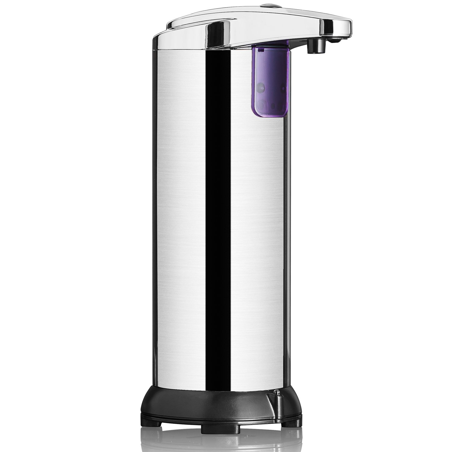 ClearMax Automatic Soap Dispenser, Premium Stainless Steel Auto Touchless Soap Dispenser w/Hands Free IR Infrared Motion Sensor, for Kitchen & Bathroom (2nd Generation)