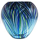 Peacock Nest Vase - 9.5'' Tall - One-of-a-kind. FREE SHIPPING to the lower 48 when you spend over $35.00
