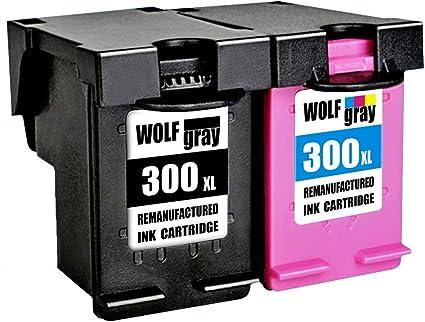 Wolfgray 300XL Remanufacturado para HP 300 XL 300 Cartuchos de tinta (1 Negro, 1 Tricolor) para HP Deskjet D1660 D2660 D5560 F2480 F4280 F4580 HP Envy 100 110 114 120 HP Photosmart C4780 C4680: Amazon.es: Oficina y papelería