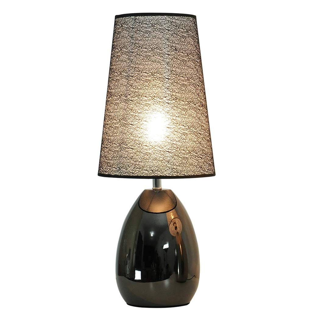 Touch Table Lamp Three-Speed Dimming Applicable Bedroom Living Room Restaurant Cafe Bar Black Titanium Modern Table Lamp Desktop Light