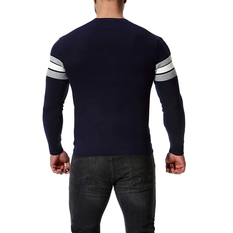 2019 Autumn New Mens Body Knitted Cardigan V Turtleneck Sweater Cardigan