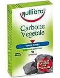 Equilibra Carbone Vegetale, integratore alimentare, 2 confezioni con 50 pezzi ciascuno