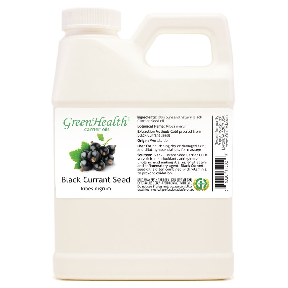GreenHealth Black Currant Seed Oil - 16 Fl Oz (473 Ml)- 100% Pure Virgin Cold Pressed
