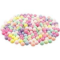 Yixuan LLC Pony Beads 200pcs granos de acrílico de colores embarcaciones pequeñas perlas de los granos granos plásticos…