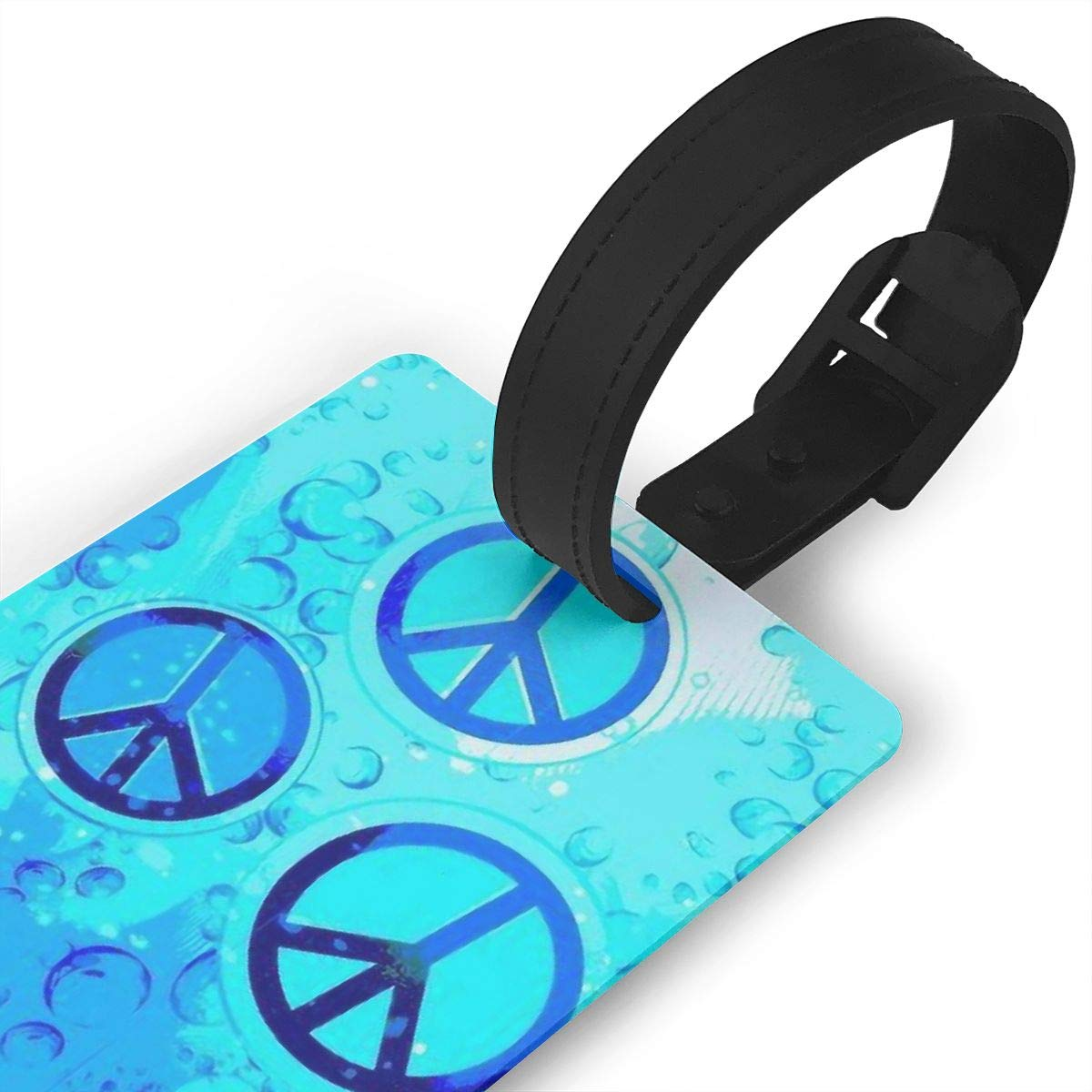 2 Pack Luggage Tags Peace Baggage Tag For Travel Tags Accessories