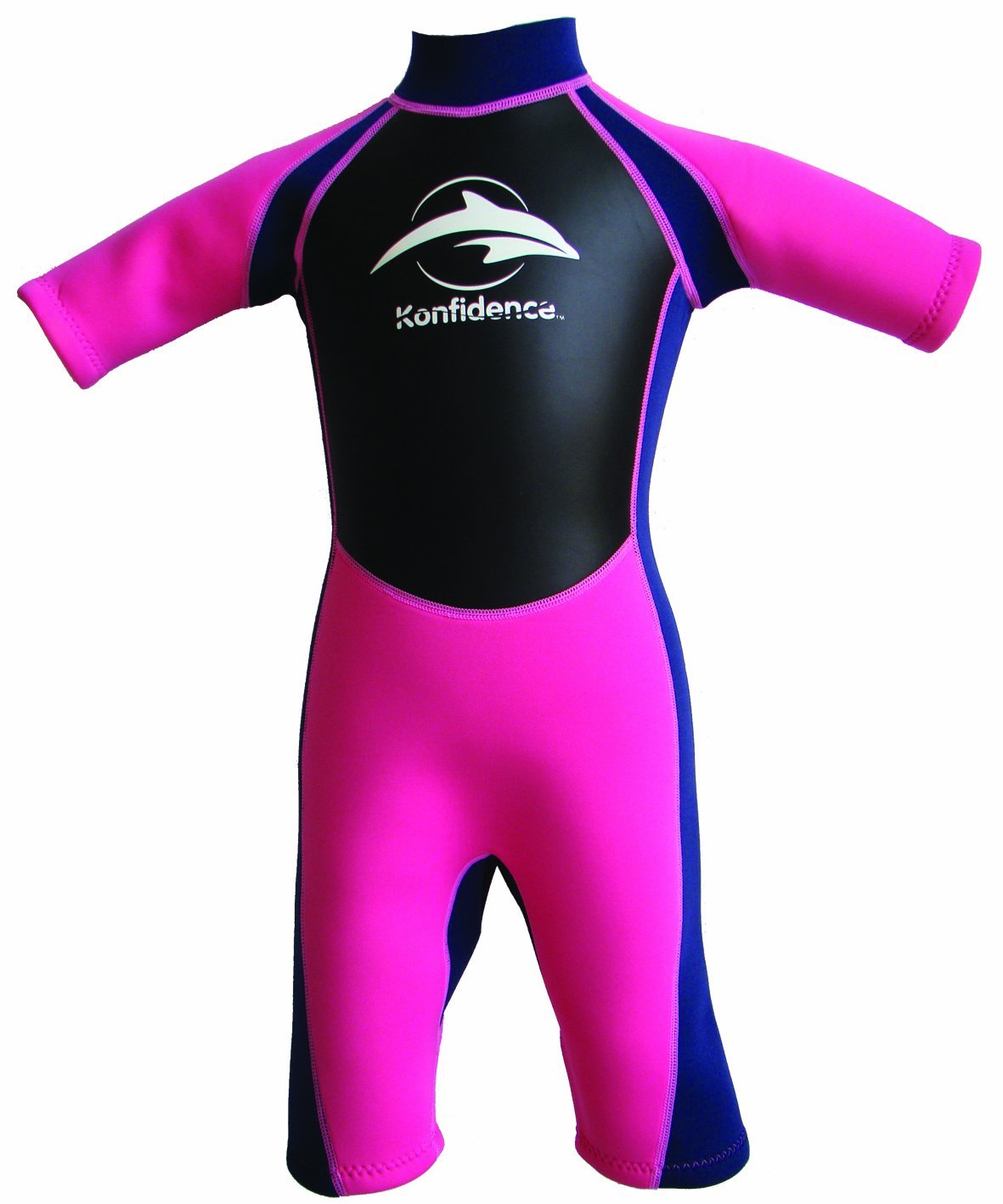 Konfidence Shorty Children's Wetsuit - Pink (3-4 Years) by Konfidence