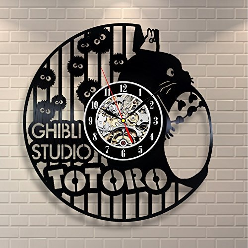 Ghibli Studio Anime Art Home Decor Vinyl Record Clock Room D