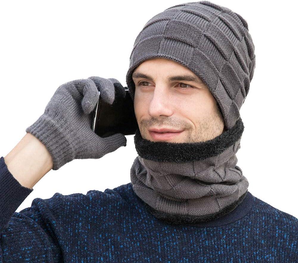 /écharpe et gants pour /écran tactile Neusky Lot de 3 bonnets