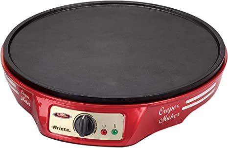 Ariete 183 CREPERA PARTY TIME, 1000 W, Negro, Rojo: Ariete: Amazon ...