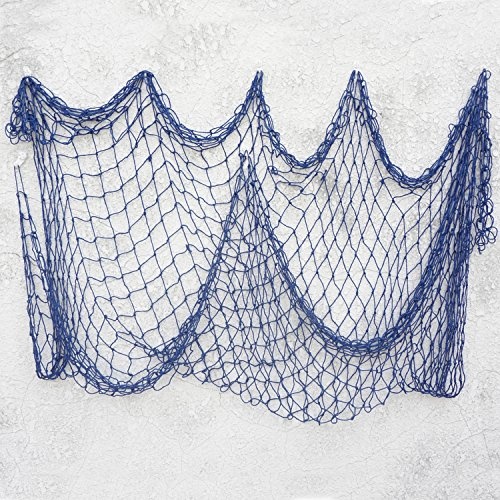 Bilipala Decorative Fish Netting, Fishing Net Decor, Ocean Pirate Beach Theme Party Decorations, Mediterranean Decor, Blue]()