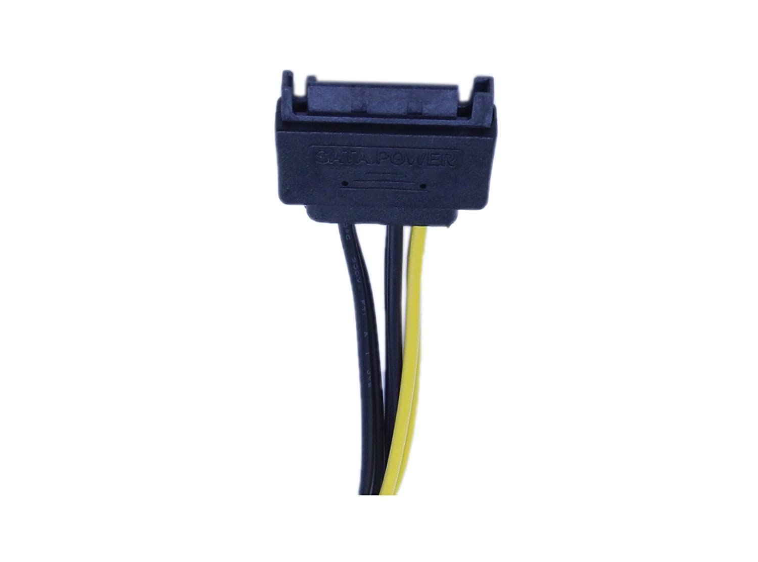 PCI-Express Female Video Card Power Adapter Cable CGTime 15-Pin SATA Male to 8-Pin 6+2 Pin