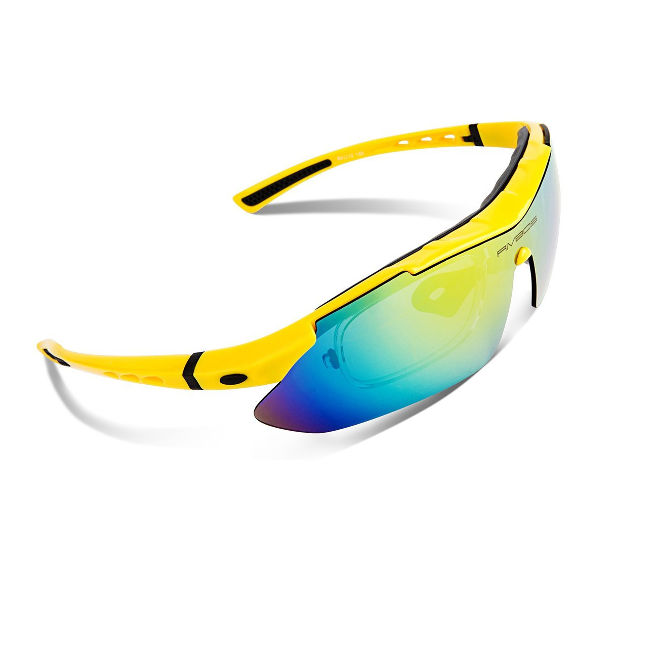 1a5970508b Galleon - RIVBOS Polarized Sports Sunglasses Driving Sun Glasses For Men  Women Tr 90 Unbreakable Frame For Cycling Baseball Running Rb831  (Yellow Black)