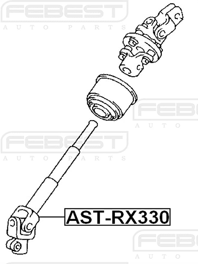 Amazon Com Febest Ast Rx330 Steering Column Joint Assembly Automotive
