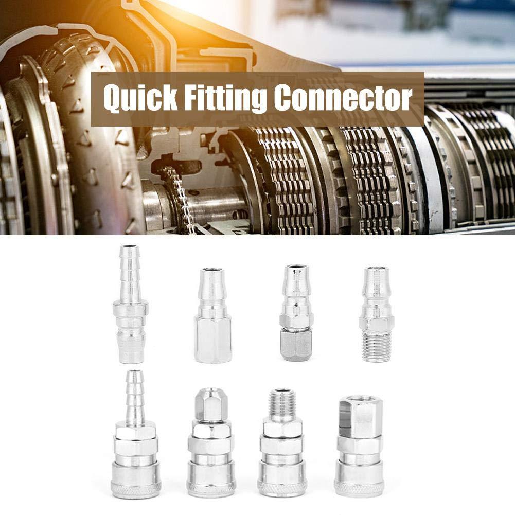 "Pneumatic Quick Fittings,Release Plug,Socket Connector Set for Air Compressor Hose 8Pcs 1//4/"" Quick Fitting,Quick Fitting Connector"