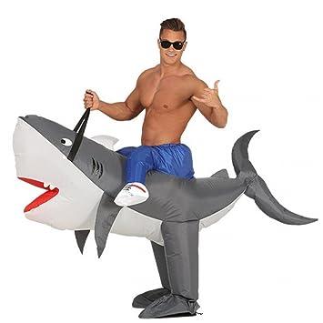 Hinchable Step de en hucke Pack Disfraz Surfer en Tiburón Hombre ...