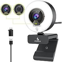 60FPS Streaming Webcam with Light, Software Included, Fast AutoFocus, Built-in Privacy Cover, 2021 NexiGo N960E USB…
