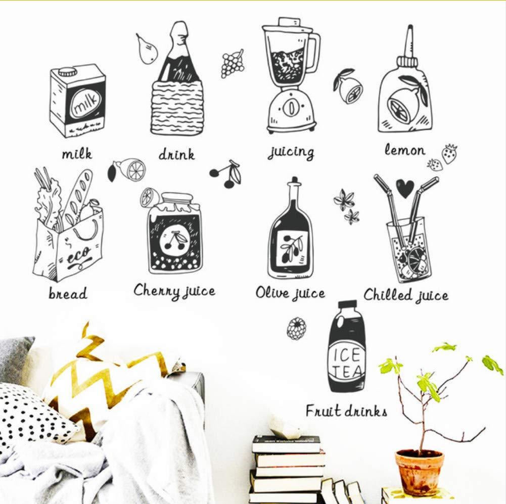 Lkfqjd Cocina Creativa Bebida De Zumo Bebida Simulación Etiqueta ...