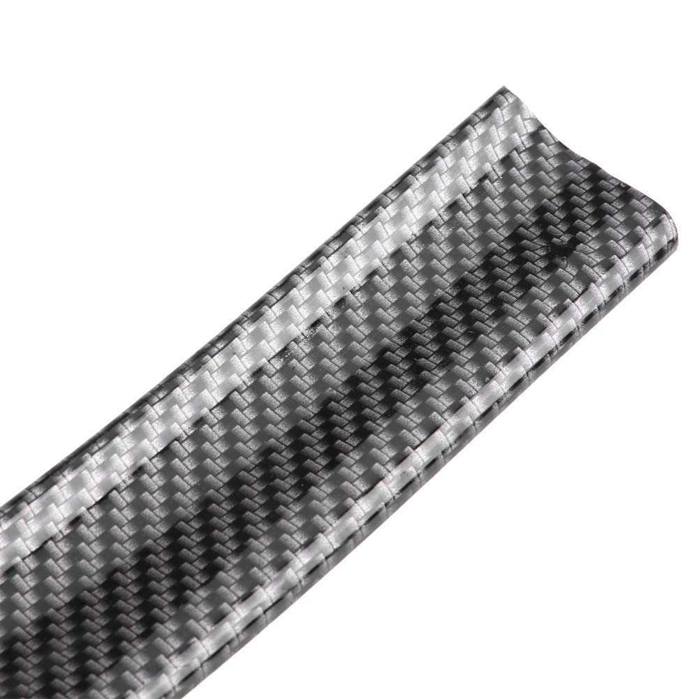 4.5cm Aler/ón trasero del maletero 1.6 m 5.2 pies de fibra de carbono de goma suave Coche Aler/ón del maletero del techo trasero Ala Protector de la etiqueta del labio