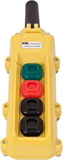 product image for KH Industries CPH04-B1C-000A 4 Push Buttons Pendant Control Switch, Maintained On/Off, Single Speed