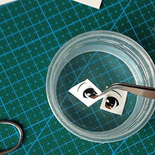 5個 DIYクラフト 粘土人形用 目 飾りテープ ステッカー デカール 工芸品 手芸 装飾 3種選ぶ - #2