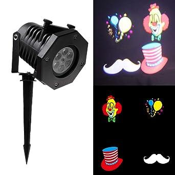 Proyector de luz LED, lámpara de proyección con 48 diseños, foco ...