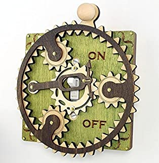 product image for Green Tree Jewelry Single Planetary Green Wood Light Switch Plate