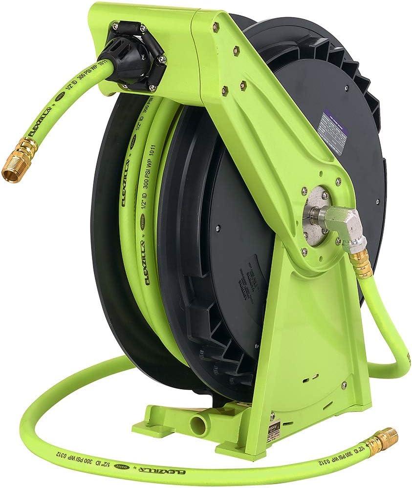 x 50 ft Lightweight 1//2 in Flexzilla Performance Series Air Hose Reel L8041FZ ZillaGreen Heavy Duty Hybrid