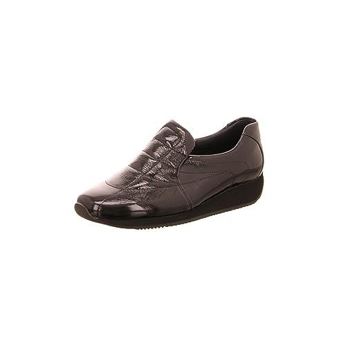 ara - Mocasines de Charol para Mujer, Color Negro, Talla 5: Amazon.es: Zapatos y complementos