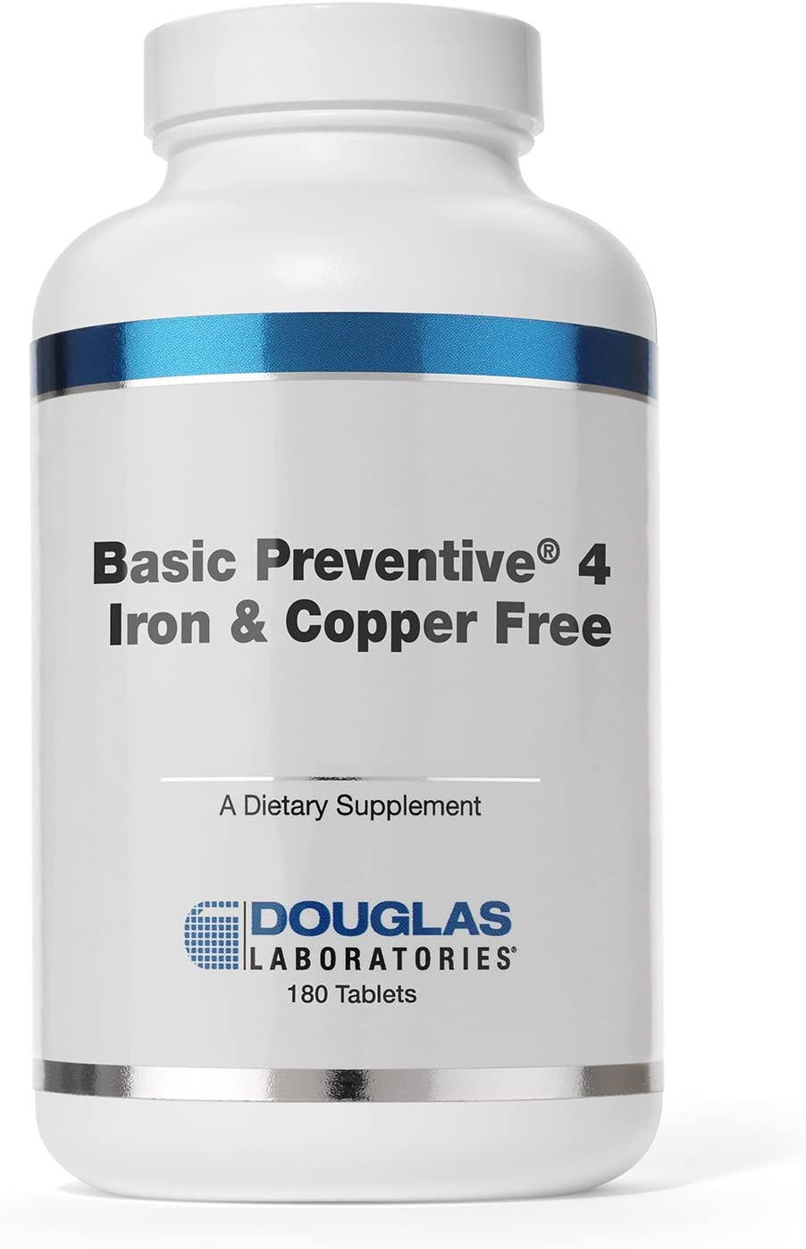 Douglas Laboratories – Basic Preventive 4 Iron Copper Free – Highly Concentrated Vitamin Mineral Trace Element Supplement – 180 Tablets