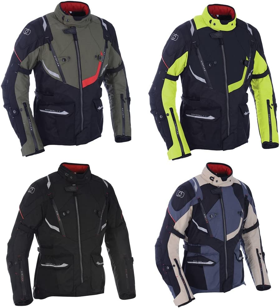 OXFORD Montreal 3.0 Mens Motorcycle Jacket Black//Fluo XL