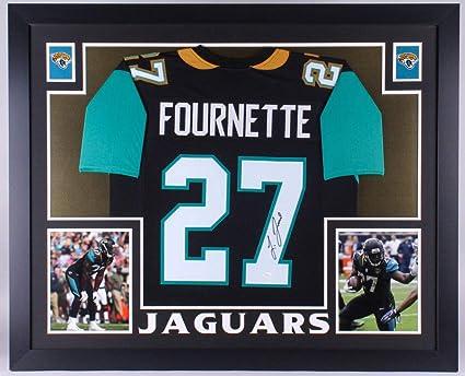 0b378833a Leonard Fournette Autographed Signed Jaguars 35X43 Custom Framed Jersey  Memorabilia - JSA Authentic
