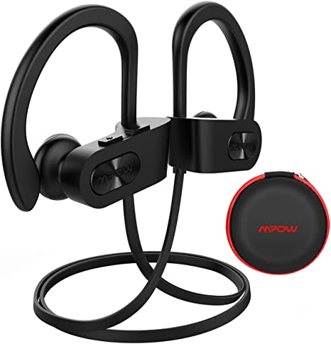 Mpow Bluetooth Headphones, PlayTime,IPX7 Waterproof Sweatproof Wireless Sports In-Ear Earphones Hi-Fi Sound,Hands-Free Calling Headset with Built-In Mic for Running//Gym//Jogging//Cycling Up to 16 Hrs