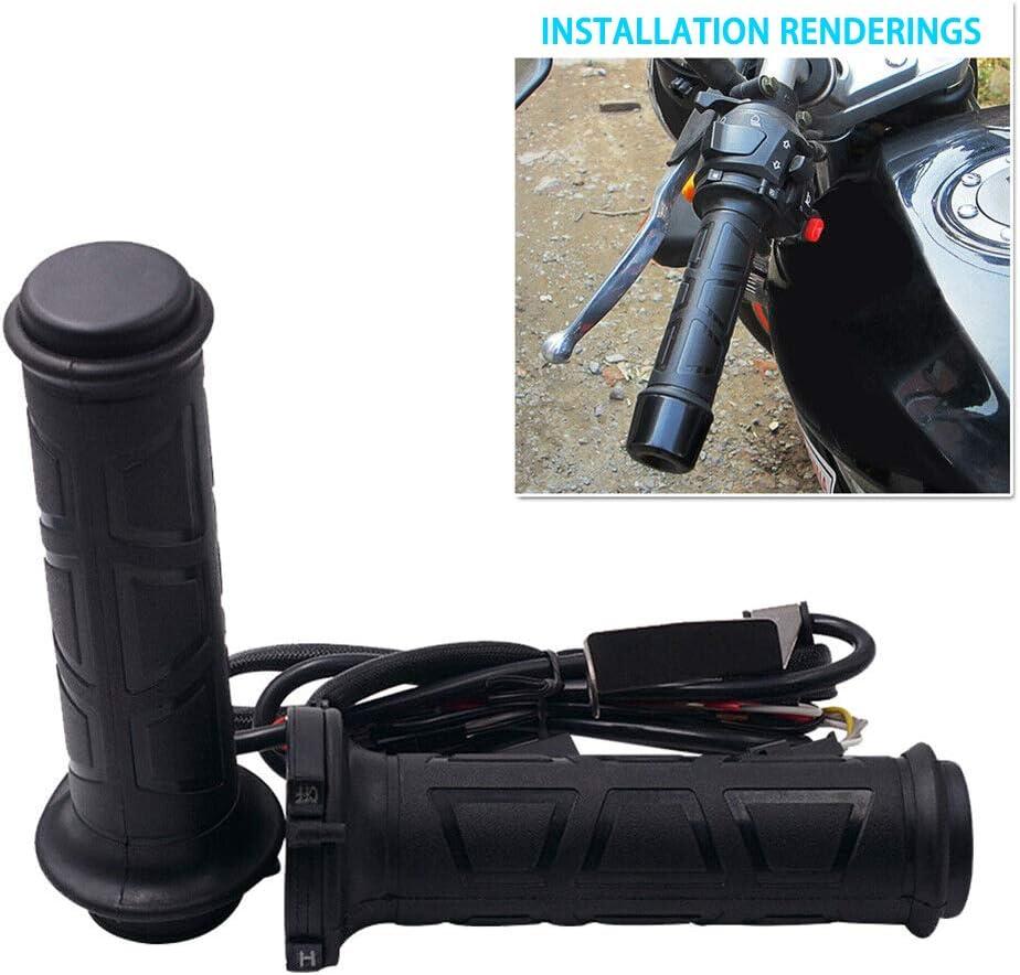 Dogggy 2 St/üCke 12 V Motorrad Elektrische Handgriffe Beheizt Griff Heizung W/äRmer Kit Multi-Speed Einstellbare Heizgriffe Duarble Motorrad Zubeh/öR